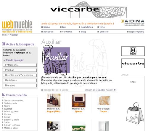 Ambiente Auxiliar en Webmueble