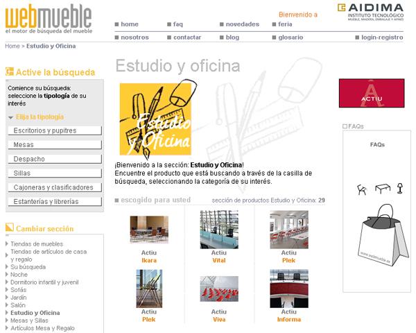 Actiu en Webmueble