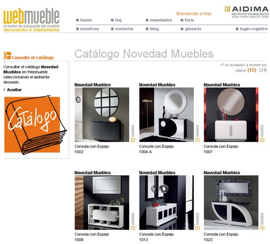 Catálogo de Novedad Muebles disponible en Webmueble