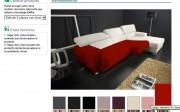 Proceso en Webmueble de revestimiento virtual on-line de un sofá