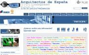 Página web del Congreso Arquitectos de España 2009