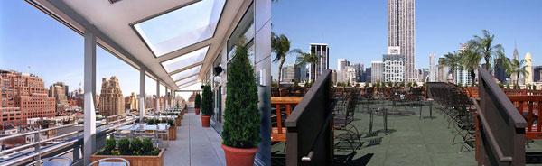 Imagen derecha: Hotel Gansevoort. Imagen izquierda: The 230 Fifht