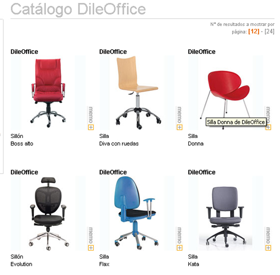 Catálogo de DileOffice en Webmueble