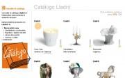 Captura de pantalla del catálogo de lladró en Webmueble