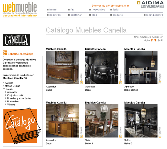 Muebles Canella en Webmueble