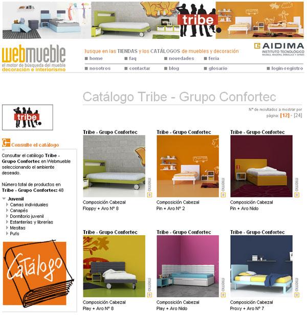 Catálogo 'espacio tribe' en Webmueble