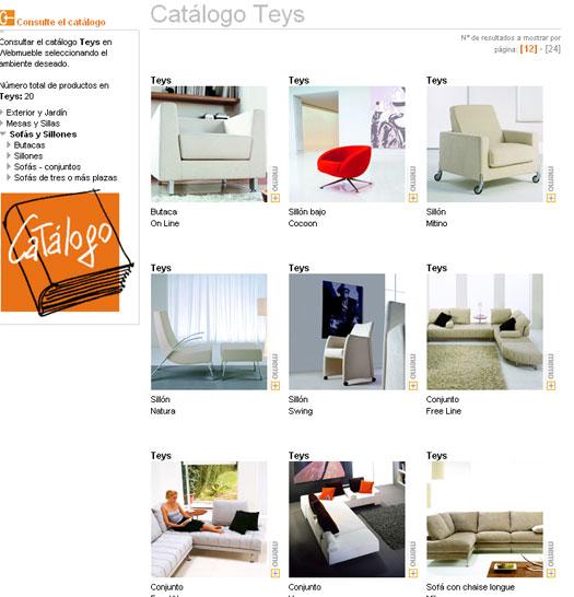 Catálogo de Teys publicado en Webmueble