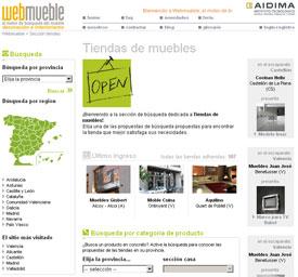 Tres nuevas tiendas en Webmueble: Moble Cuina, Muebles Gisbert y Aquilino