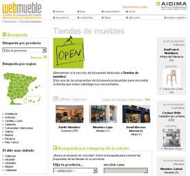 Tres nuevas tiendas en Webmueble