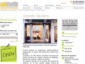 La tienda de muebles y decoración Vicente Navarro, visible en el portal