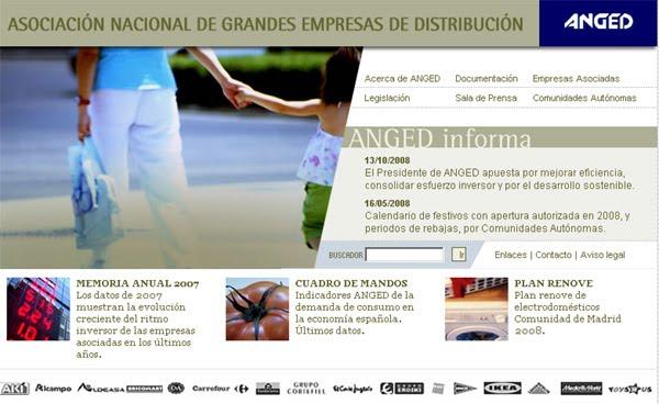Página web de ANGED