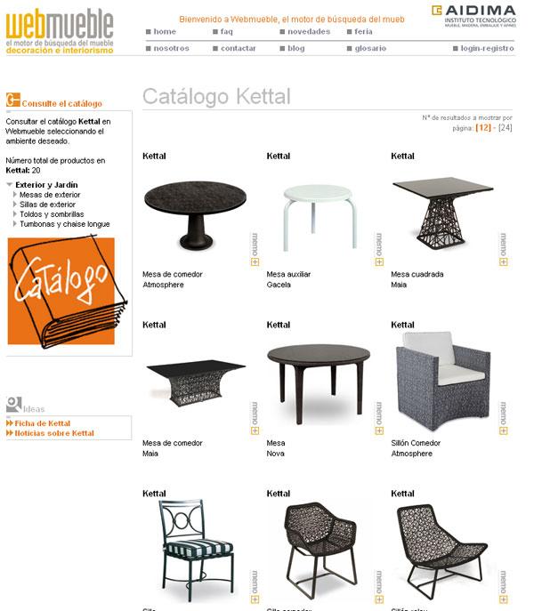 Catálogo de Kettal en Webmueble