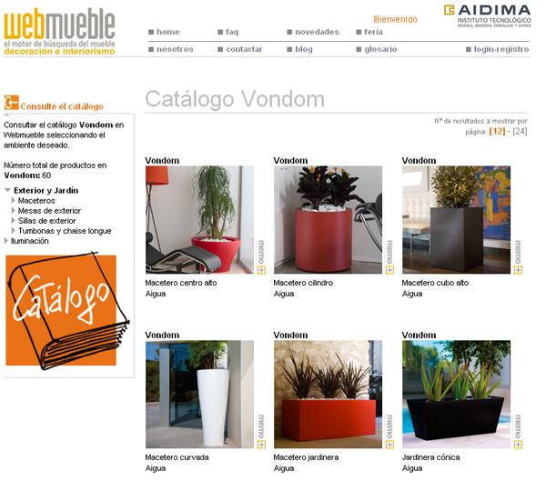 Catálogo de VONDOM en Webmueble