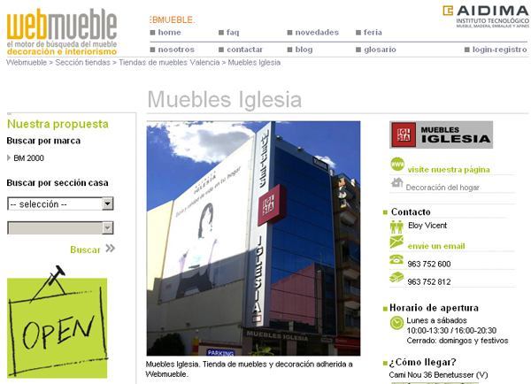Muebles Iglesia en Webmueble