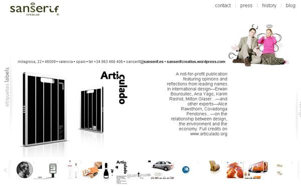Página web de Sanserif Creatius
