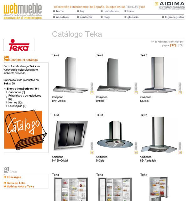 Catálogo de Teka en Webmueble
