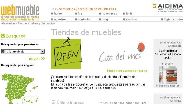Eventos en las tiendas adheridas a Webmueble (www.webmueble.es)
