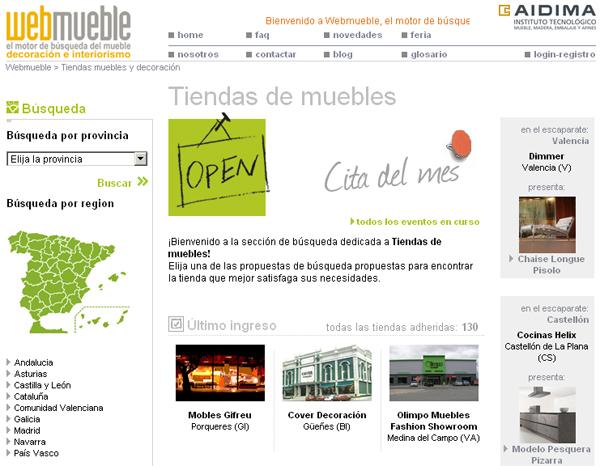 Tiendas Mobles Gifreu y Cover Decoración en Webmueble
