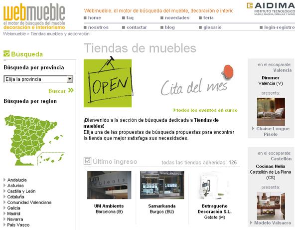 Tiendas UM Ambients (Barcelona) y Samarkanda (Burgos) visibles en el portal