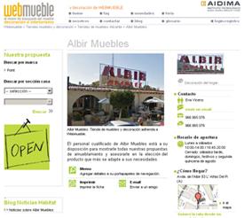 La tienda albir muebles se adhiere a webmueble noticias for Muebles rivadulla