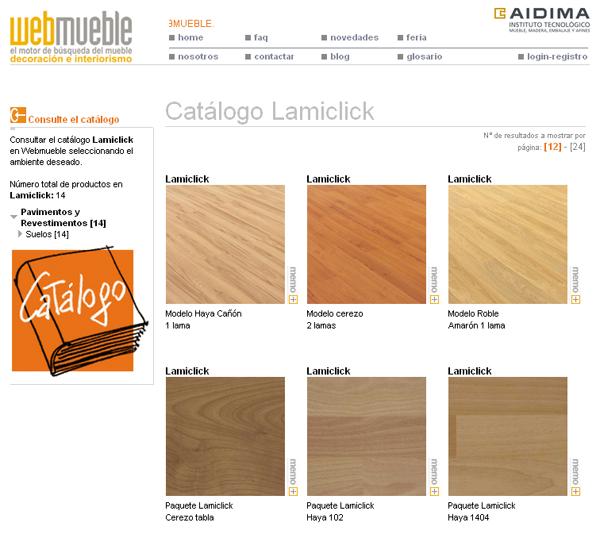 Catálogo de Lamiclick en Webmueble