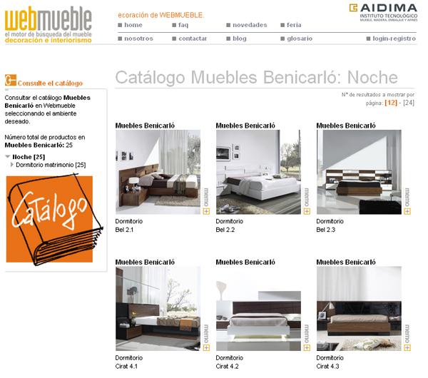 Cat logo de muebles benicarl visible en webmueble for Catalogo boom del mueble