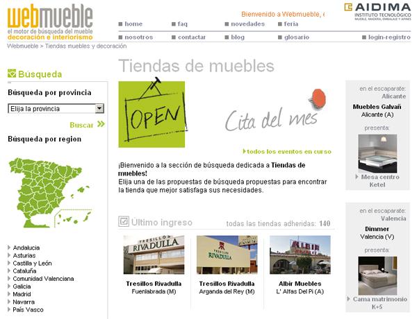 Dos nuevas tiendas de tresillos rivadulla en webmueble for Muebles rivadulla