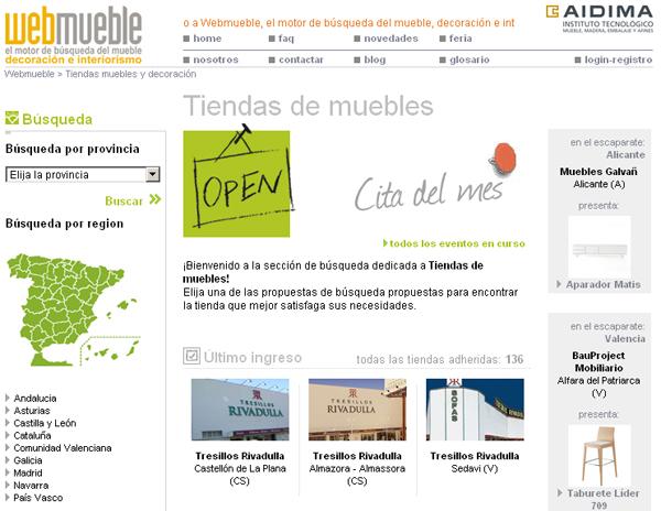 Cinco tiendas de tresillos rivadulla visibles en webmueble for Tresillos en valencia
