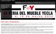 Página web de la Feria del Mueble de Yecla