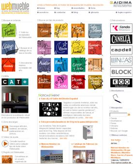 Captura de pantalla de Webmueble