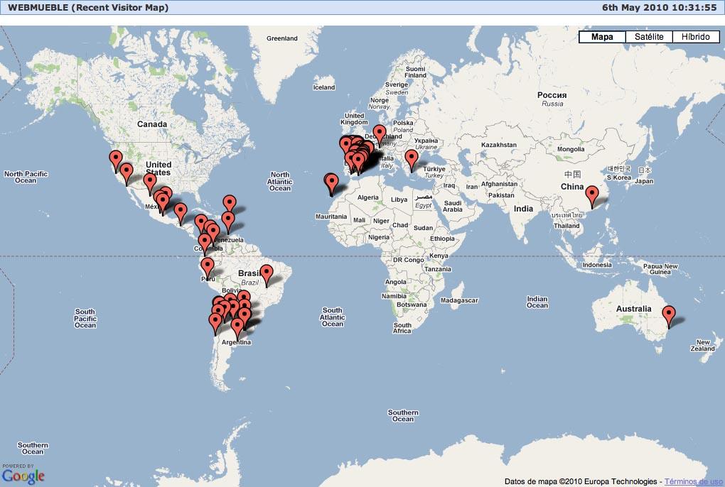 Mapa de accesos a Webmueble