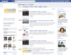 Página en Facebook de Webmueble