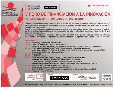 V foro financiación innovación