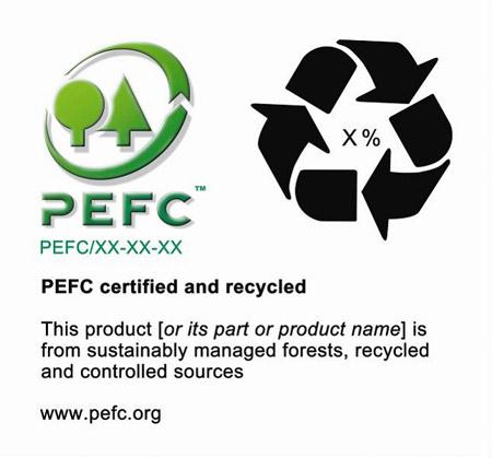 Ejemplo de etiquetado PEFC en productos de SOLO TIMBER