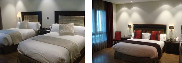 Tecni nova amuebla el hotel crowne plaza madrid airport for Habitat muebles madrid