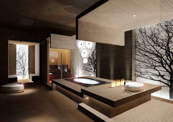 Espacio de la propuesta Aetherea Private Spa, del Studio Bizarro&Partners