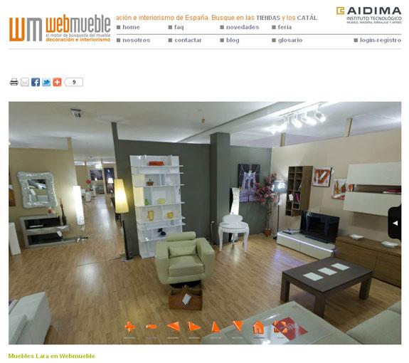 Un nuevo servicio de fotografía 360º para los puntos de venta de Webmueble
