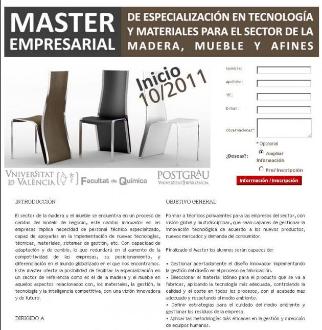 Master empresarial Mueble