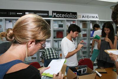 Taller PLANET DESIGN en la biblioteca MATERIALIZA de AIDIMA