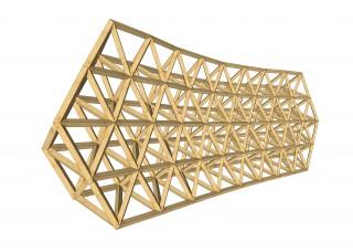 Prototipo virtual de sistema constructivo mixto desarrollado en el proyecto.