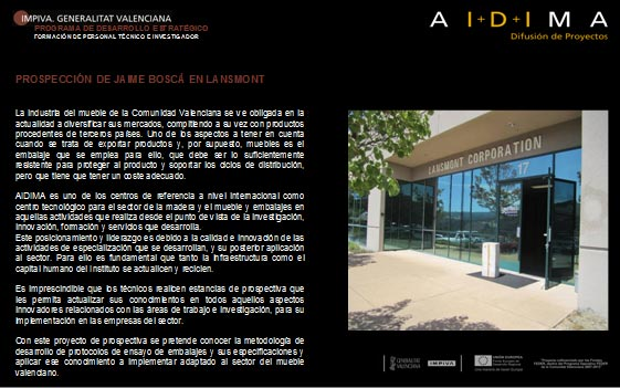Prospección de ManUnidad de Inteligencia Competitiva e Innovación Estratégica (UNiTs) uel Belanche de AIDIMA en MIT