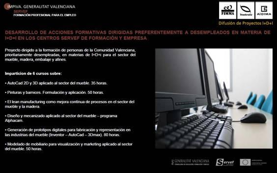 Proyecto formación para desempleados en centros SERVEF y empresas para el sector del mueble