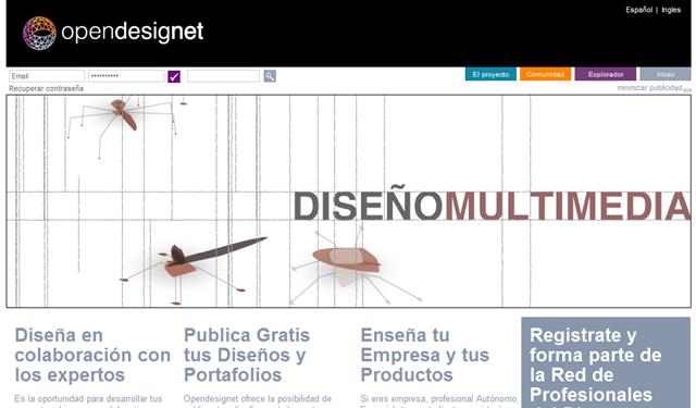 Opendesignet, web del proyecto
