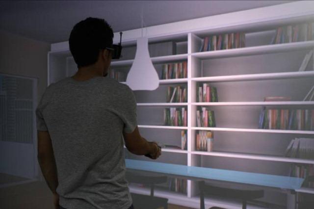 """HABITOS / Interacción con muebles en un hogar virtual durante la experiencia del usuario en la investigación realizada en el laboratorio """"Living Space Lab"""" de AIDIMA."""