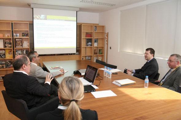 El director general de Proyectos y Fondos Europeos de la Generalitat Valenciana, Juan Viesca, en AIDIMA