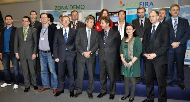 Reunión de proyecto durante Ecofira 2011.