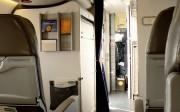Interior de una cabina de pasajeros Business.
