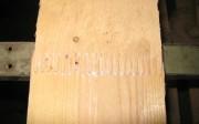 Union de dos piezas de madera mediante bioadhesivo