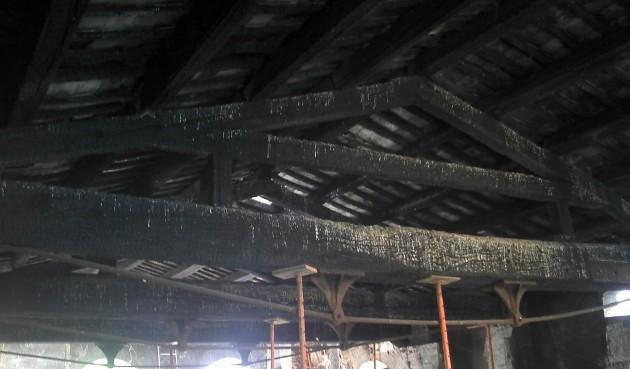cubiertas elementos carbonizados