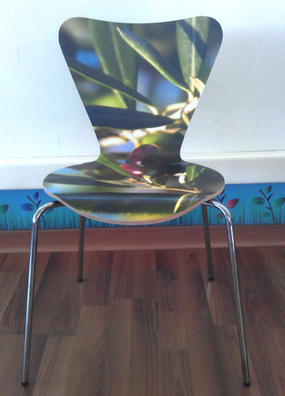 Tacon Advanced Digital · Personalización del laminado en una silla